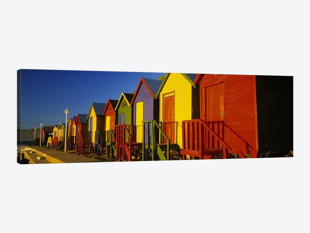 Beach huts in a row, St James, Cape Town, South Africa by Panoramic Images 1-piece Canvas Print