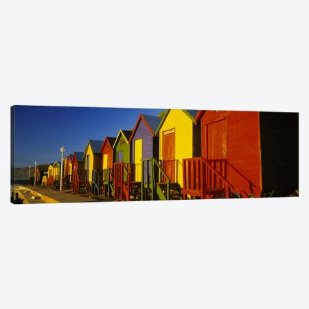 Beach huts in a row, St James, Cape Town, South Africa Canvas Print #PIM5665} by Panoramic Images Canvas Art Print