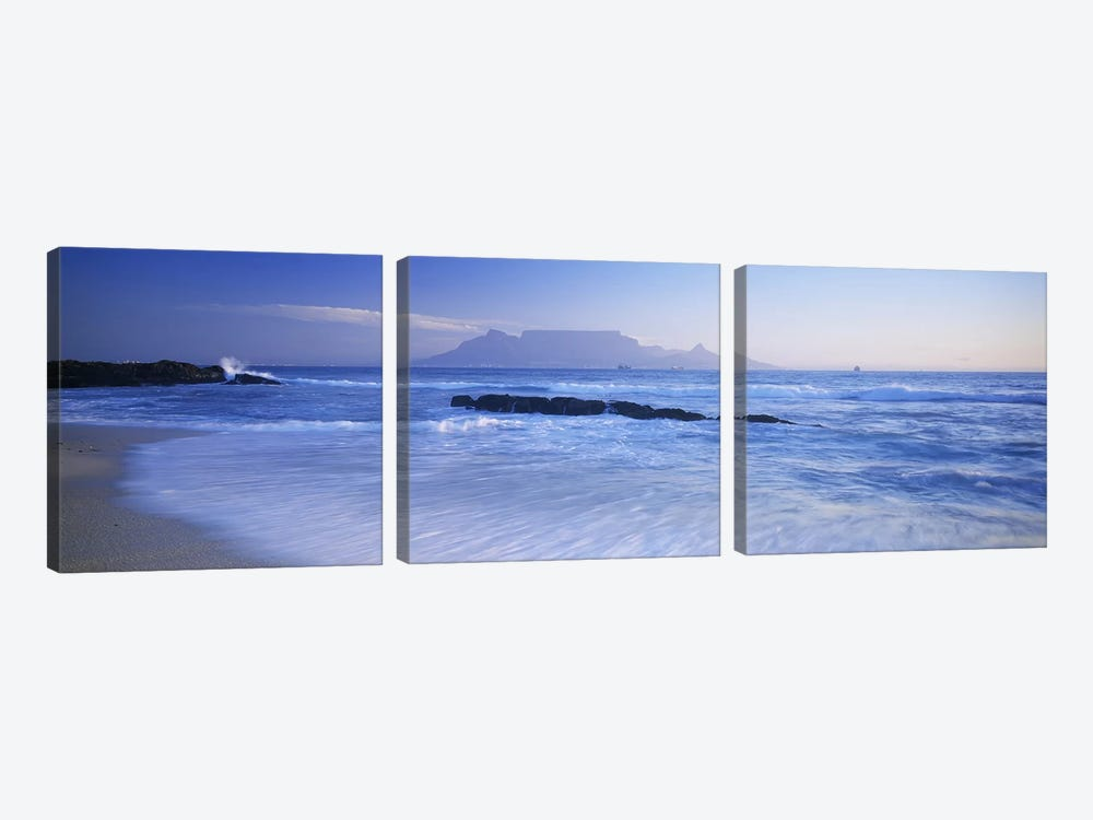 Distant View Of Table Mountain, Cape Town, Western Cape, South Africa by Panoramic Images 3-piece Canvas Art