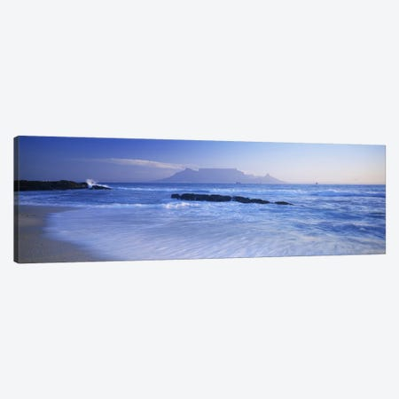 Distant View Of Table Mountain, Cape Town, Western Cape, South Africa Canvas Print #PIM5666} by Panoramic Images Canvas Print