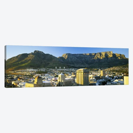 Table Mountain With A High-Angle View Of Cape Town, Western Cape, South Africa Canvas Print #PIM5669} by Panoramic Images Canvas Artwork