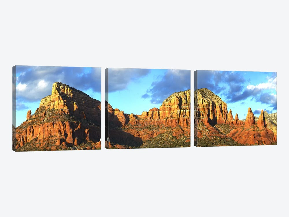 Chapel on rock formations, Chapel Of The Holy Cross, Sedona, Arizona, USA by Panoramic Images 3-piece Art Print