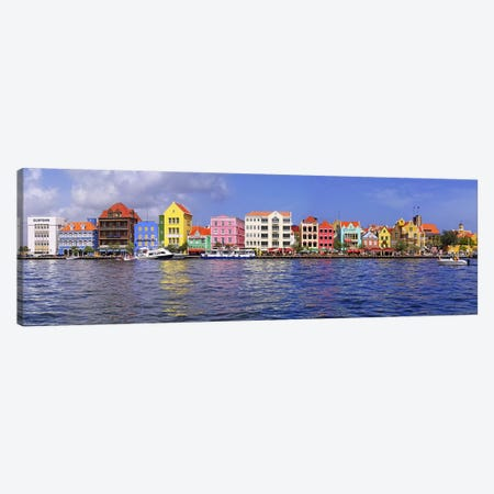 Waterfront Property, Willemstad Harbour, Curacao, Lesser Antilles Canvas Print #PIM5691} by Panoramic Images Art Print