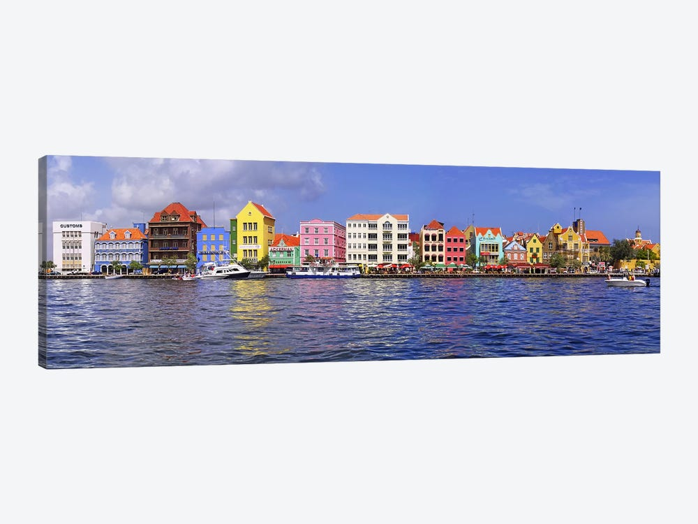 Waterfront Property, Willemstad Harbour, Curacao, Lesser Antilles by Panoramic Images 1-piece Canvas Artwork