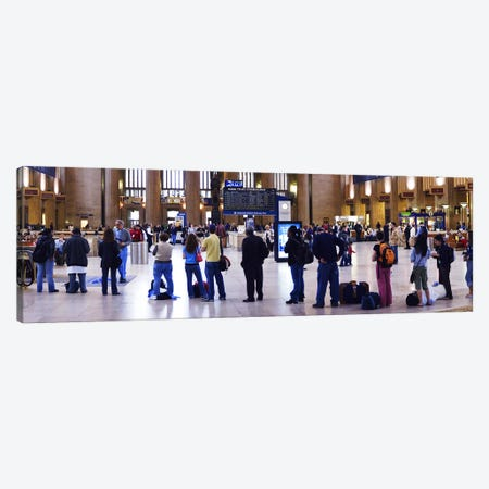 People waiting in a railroad station, 30th Street Station, Schuylkill River, Philadelphia, Pennsylvania, USA Canvas Print #PIM5696} by Panoramic Images Canvas Wall Art