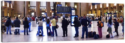 People waiting in a railroad station, 30th Street Station, Schuylkill River, Philadelphia, Pennsylvania, USA Canvas Print #PIM5696