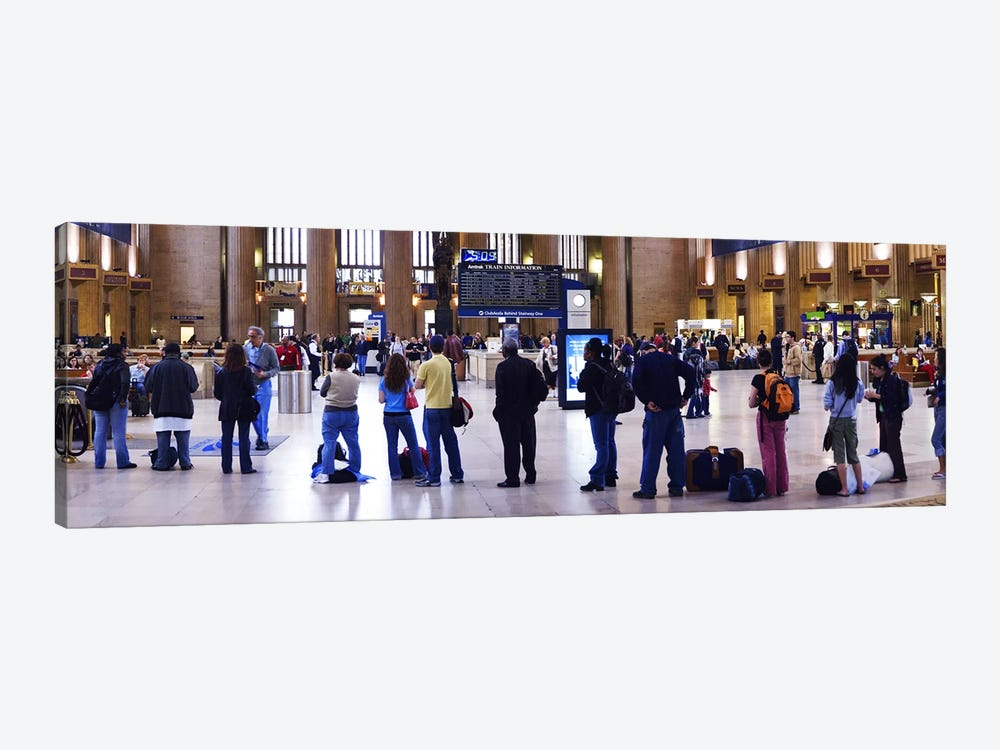 People waiting in a railroad station, 30th Street Station, Schuylkill River, Philadelphia, Pennsylvania, USA by Panoramic Images 1-piece Art Print