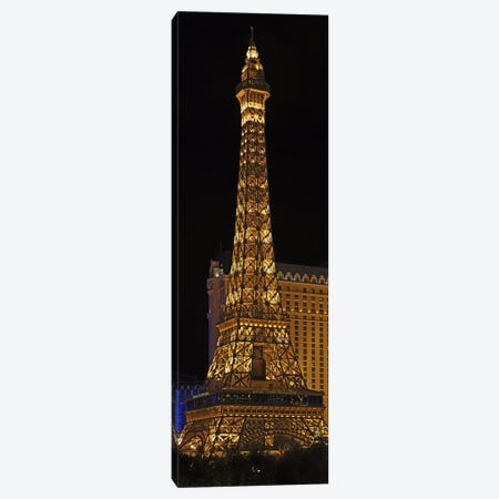 Replica of the Eiffel Tower lit up at night, Paris Las Vegas, Las Vegas, Nevada, USA Canvas Print #PIM5699} by Panoramic Images Canvas Art Print