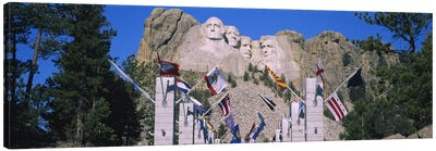 Mount Rushmore National Memorial With The Avenue Of Flags, South Dakota, USA Canvas Art Print