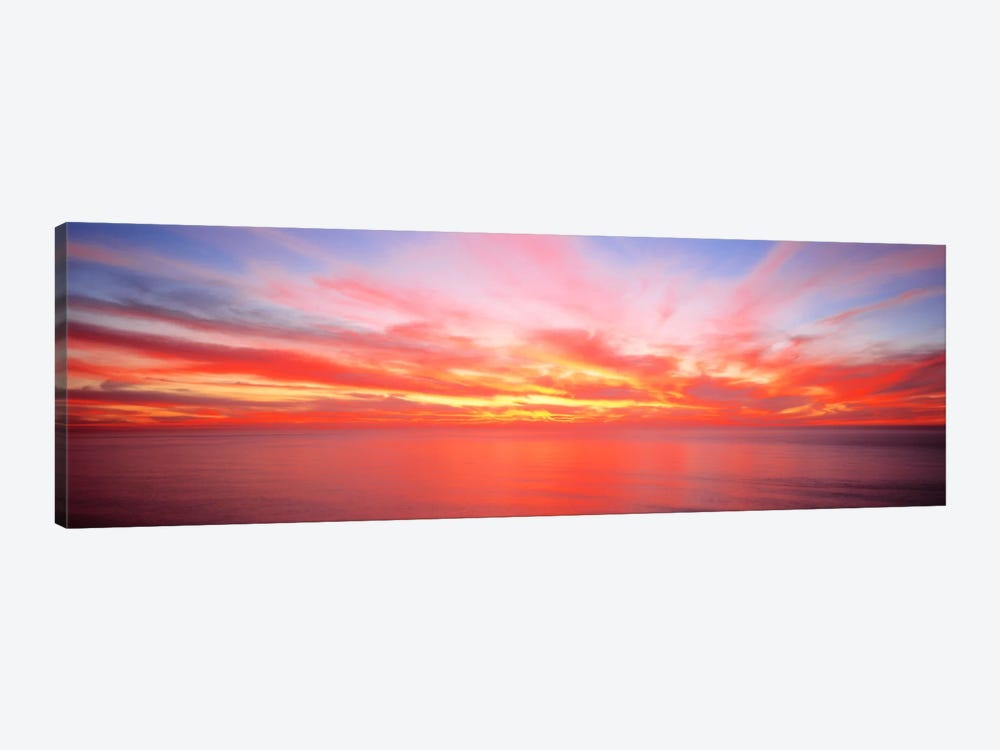 Fiery Glowing Sunset Over The Pacific Ocean by Panoramic Images 1-piece Art Print