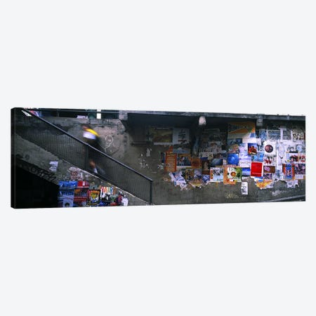 Man walking upstairs from Post Alley to Post Market, Seattle, Washington State, USA Canvas Print #PIM5711} by Panoramic Images Canvas Wall Art