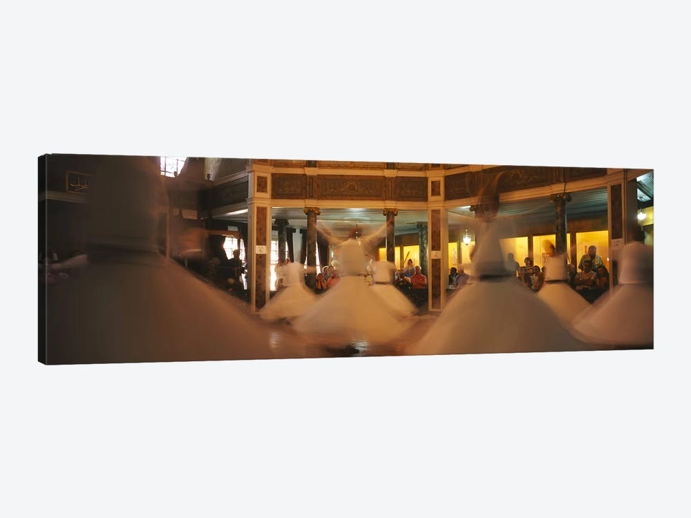 Dervishes dancing at a ceremonyIstanbul, Turkey by Panoramic Images 1-piece Canvas Art