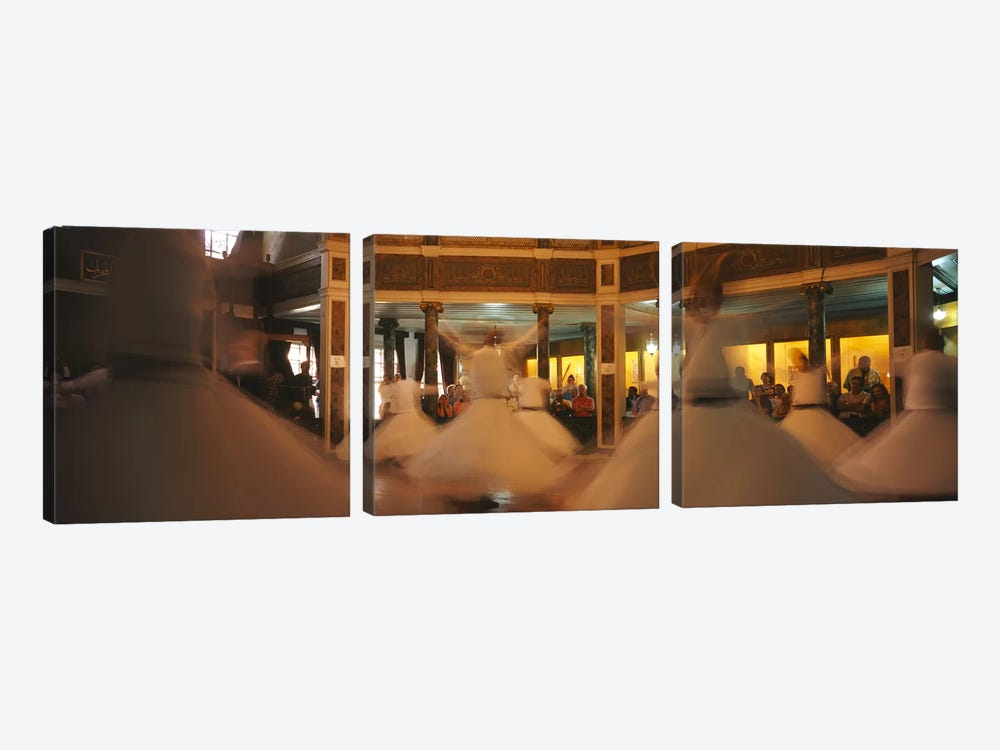 Dervishes dancing at a ceremonyIstanbul, Turkey by Panoramic Images 3-piece Canvas Art