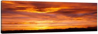 Sky at sunset, Daniels Park, Denver, Colorado, USA Canvas Art Print