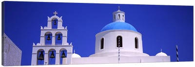 High section view of a churchOia, Santorini, Greece Canvas Art Print