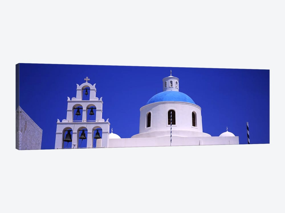 High section view of a churchOia, Santorini, Greece by Panoramic Images 1-piece Canvas Art