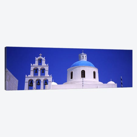 High section view of a churchOia, Santorini, Greece Canvas Print #PIM5729} by Panoramic Images Canvas Print