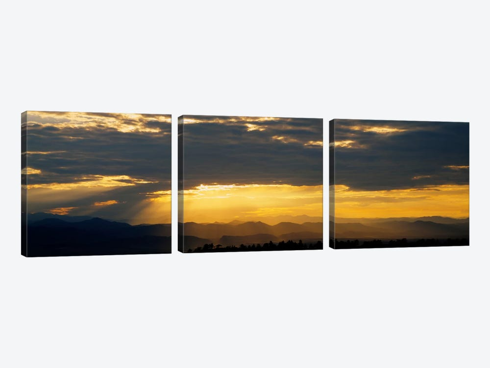 Clouds in the sky, Daniels Park, Denver, Colorado, USA by Panoramic Images 3-piece Canvas Print