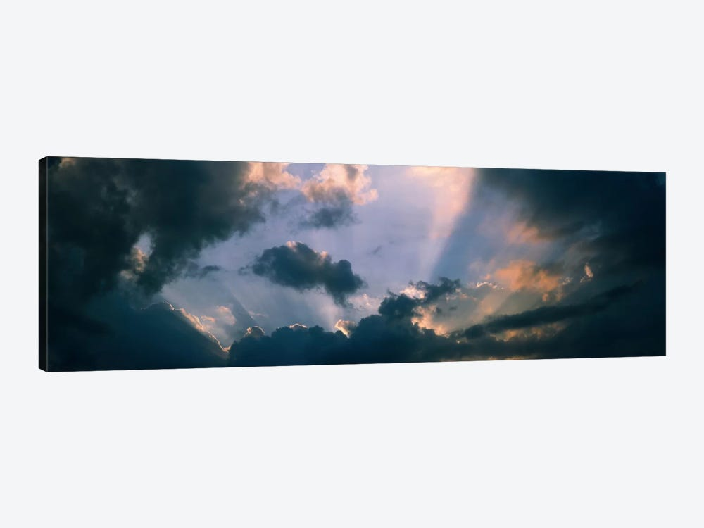 Clouds With God Rays by Panoramic Images 1-piece Canvas Wall Art