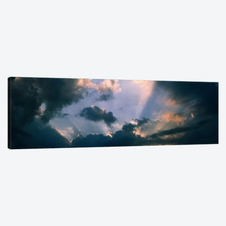 Clouds With God Rays Canvas Print #PIM573} by Panoramic Images Canvas Art