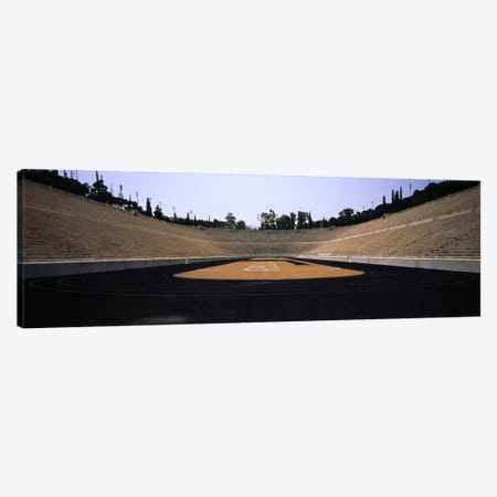 Interiors of a stadiumOlympic Stadium, Athens, Greece Canvas Print #PIM5746} by Panoramic Images Canvas Artwork