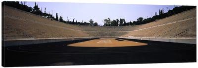 Interiors of a stadiumOlympic Stadium, Athens, Greece Canvas Art Print