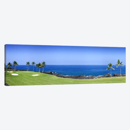 Oceanside Green And Fairway, 3rd Hole, Kona Country Club, Keauhou, Hawaii, USAA Canvas Print #PIM5749} by Panoramic Images Canvas Print
