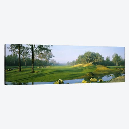 Wide-Angle View Of Streamside Greens (10th, 14th & 17th Holes), Haile Plantation Golf And Country Club, Gainesville, Florida Canvas Print #PIM5756} by Panoramic Images Canvas Art Print