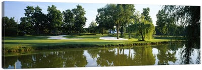Lake on a golf courseTantallon Country Club, Fort Washington, Maryland, USA Canvas Art Print