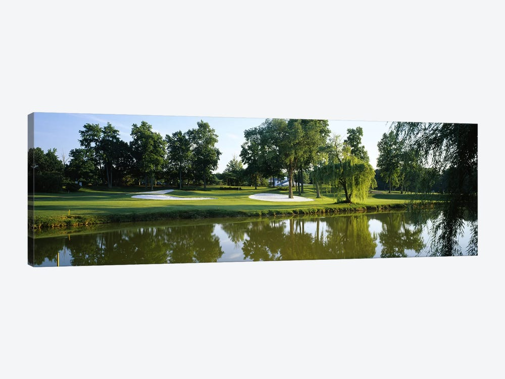 Lake on a golf courseTantallon Country Club, Fort Washington, Maryland, USA by Panoramic Images 1-piece Canvas Print