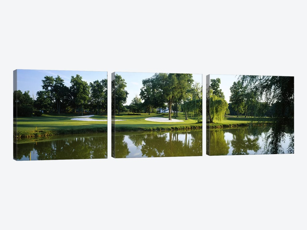 Lake on a golf courseTantallon Country Club, Fort Washington, Maryland, USA by Panoramic Images 3-piece Art Print