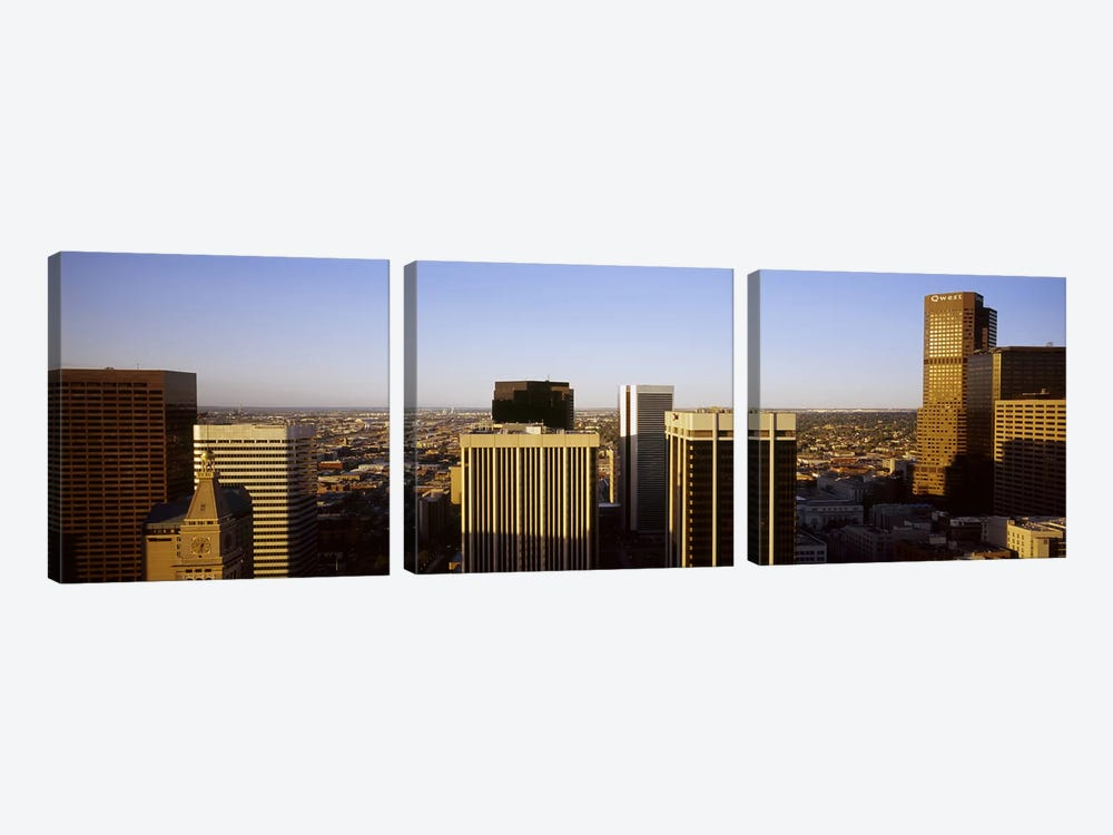 Skyscrapers in a cityDenver, Colorado, USA by Panoramic Images 3-piece Canvas Wall Art