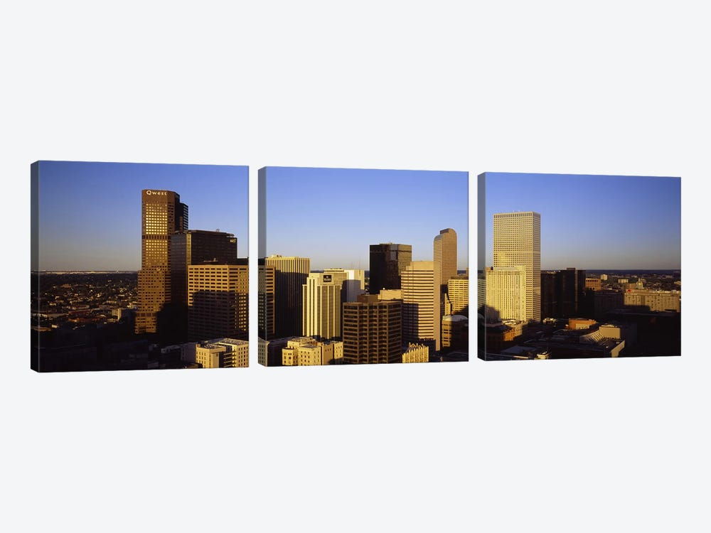 Skyscrapers in a cityDenver, Colorado, USA by Panoramic Images 3-piece Canvas Art Print
