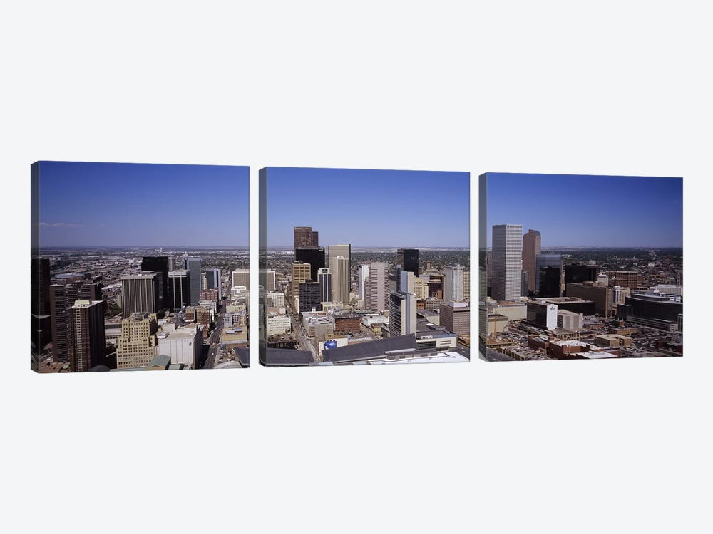 Skyscrapers in a cityDenver, Colorado, USA by Panoramic Images 3-piece Canvas Art