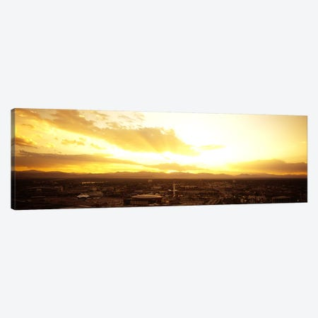 Clouds over a cityDenver, Colorado, USA Canvas Print #PIM5765} by Panoramic Images Canvas Art