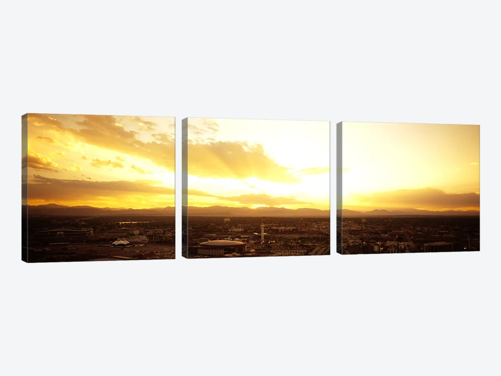 Clouds over a cityDenver, Colorado, USA by Panoramic Images 3-piece Canvas Wall Art