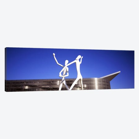 Dancers sculpture by Jonathan Borofsky in front of a building, Colorado Convention Center, Denver, Colorado, USA Canvas Print #PIM5767} by Panoramic Images Canvas Wall Art