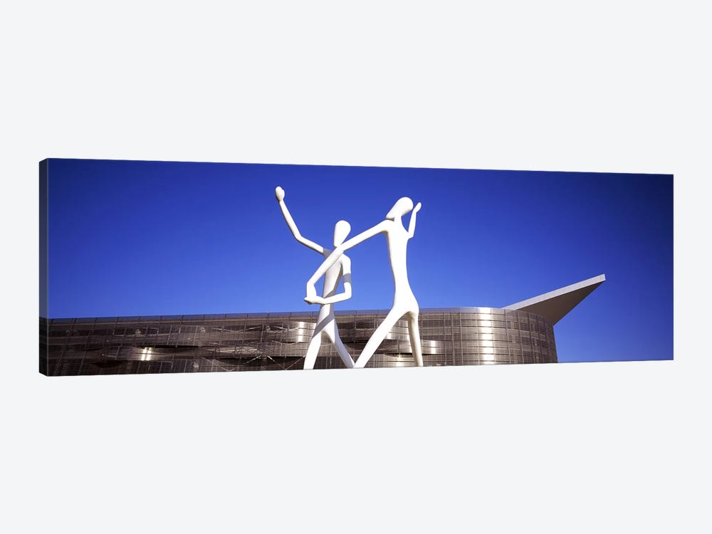 Dancers sculpture by Jonathan Borofsky in front of a building, Colorado Convention Center, Denver, Colorado, USA by Panoramic Images 1-piece Canvas Artwork