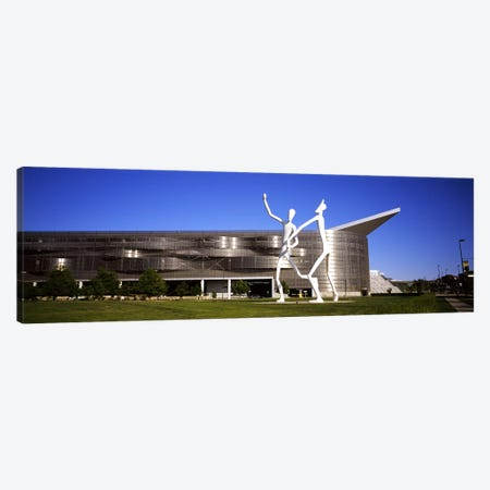 Dancers sculpture by Jonathan Borofsky in front of a building, Colorado Convention Center, Denver, Colorado, USA #2 Canvas Print #PIM5768} by Panoramic Images Canvas Print