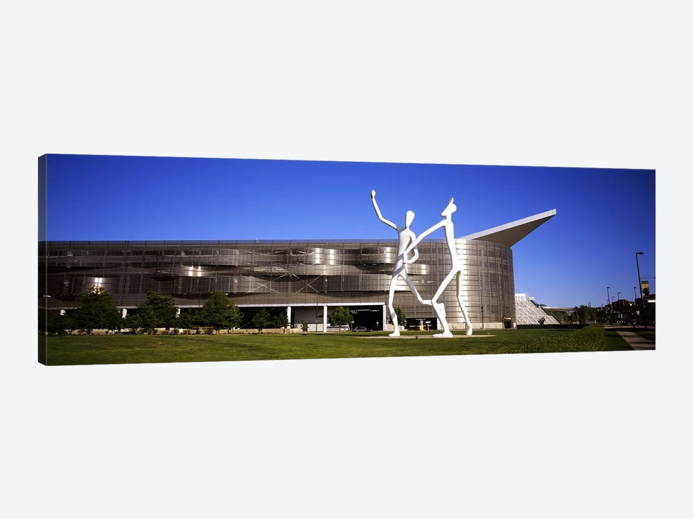 Dancers sculpture by Jonathan Borofsky in front of a building, Colorado Convention Center, Denver, Colorado, USA #2 by Panoramic Images 1-piece Art Print