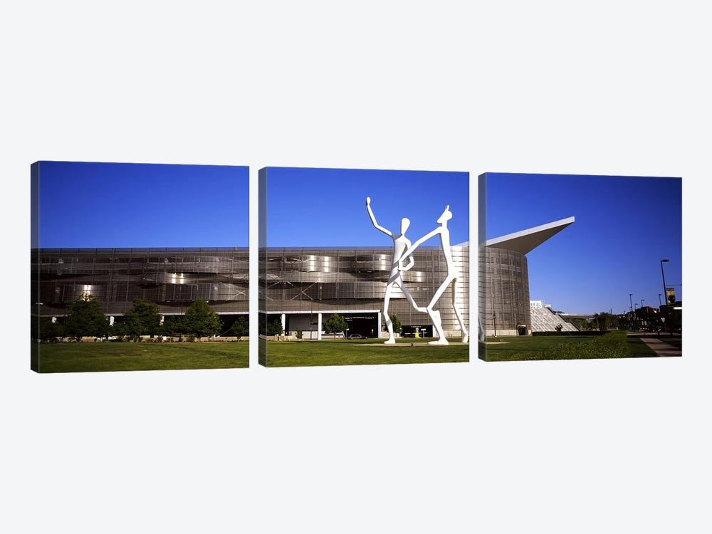 Dancers sculpture by Jonathan Borofsky in front of a building, Colorado Convention Center, Denver, Colorado, USA #2 by Panoramic Images 3-piece Art Print