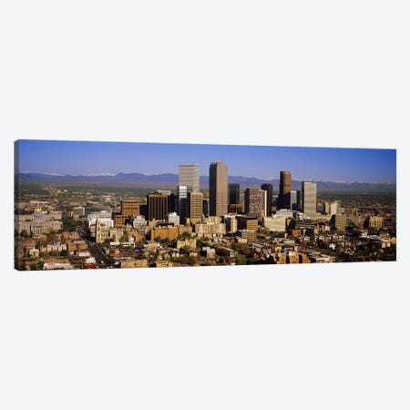 Skyscrapers in a city, Denver, Colorado, USA #2 Canvas Print #PIM5771} by Panoramic Images Canvas Artwork