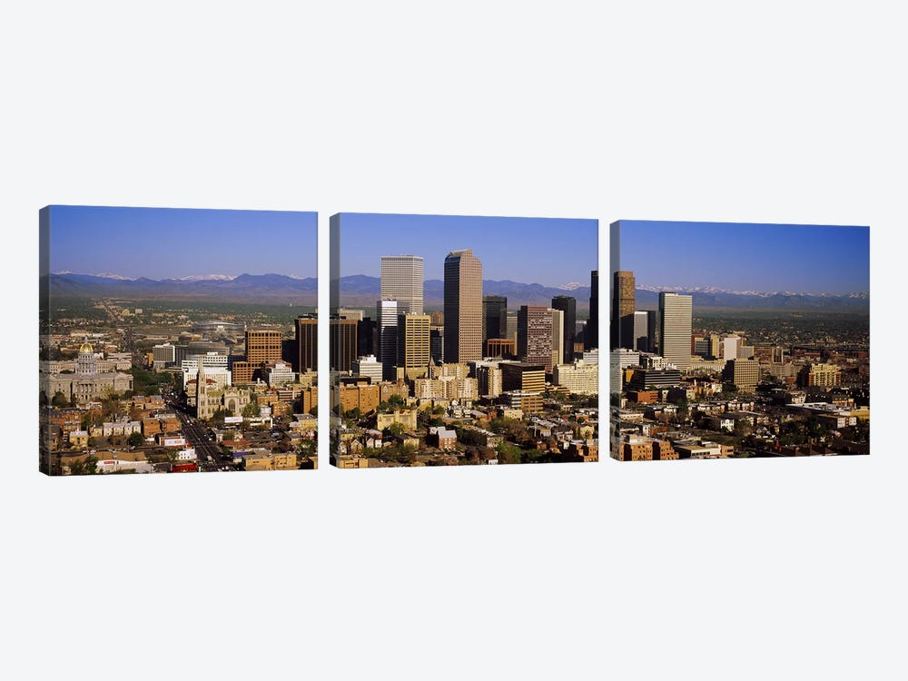 Skyscrapers in a city, Denver, Colorado, USA #2 by Panoramic Images 3-piece Canvas Print