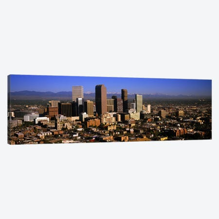 Skyscrapers in a city, Denver, Colorado, USA #3 Canvas Print #PIM5772} by Panoramic Images Canvas Artwork