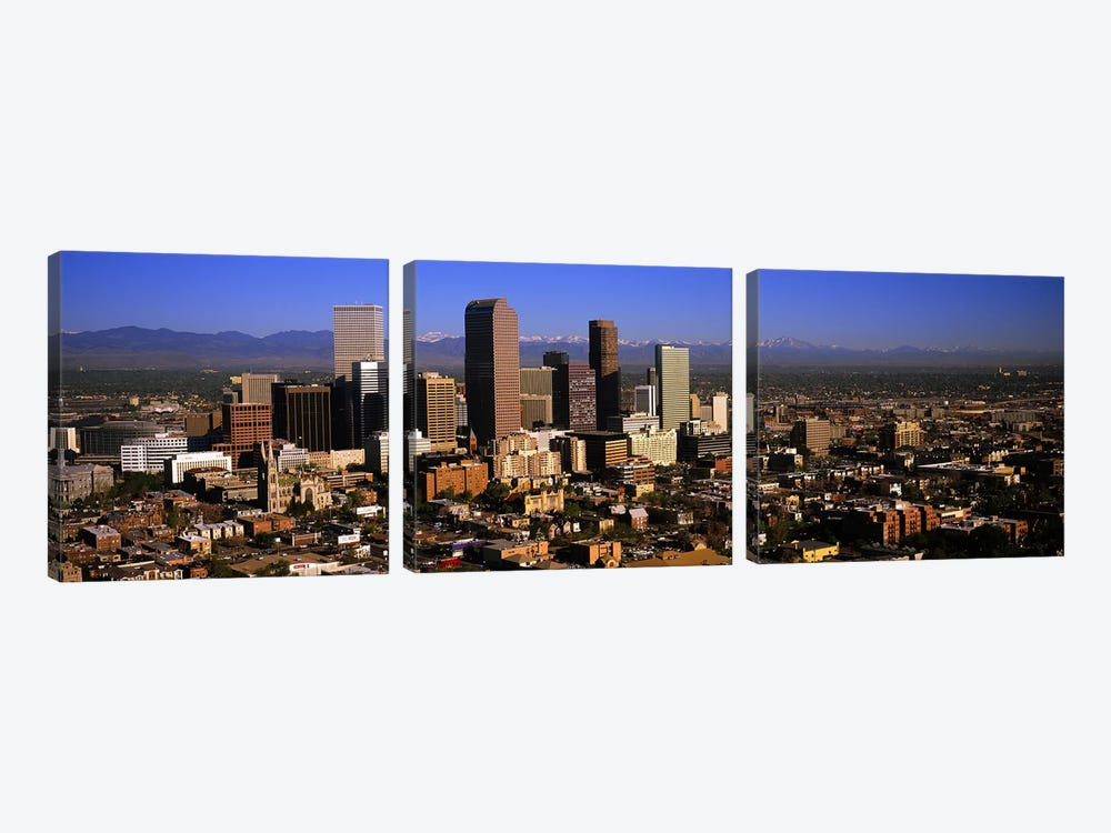 Skyscrapers in a city, Denver, Colorado, USA #3 by Panoramic Images 3-piece Canvas Artwork