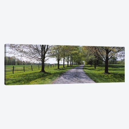 Road passing through a farm, Knox Farm State Park, East Aurora, New York State, USA Canvas Print #PIM5774} by Panoramic Images Canvas Print