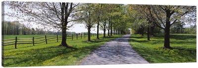 Road passing through a farm, Knox Farm State Park, East Aurora, New York State, USA Canvas Art Print