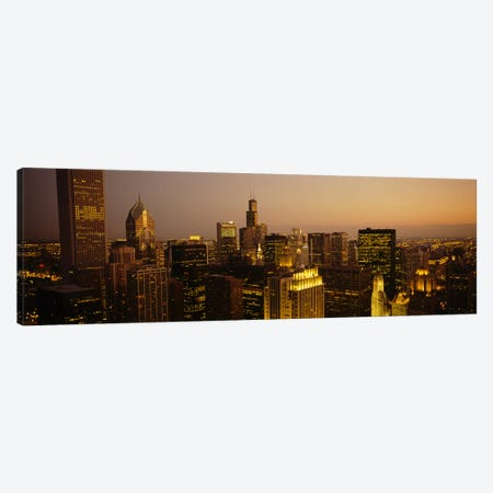 Skyscrapers in a city, Chicago, Illinois, USA #2 Canvas Print #PIM5775} by Panoramic Images Canvas Art Print