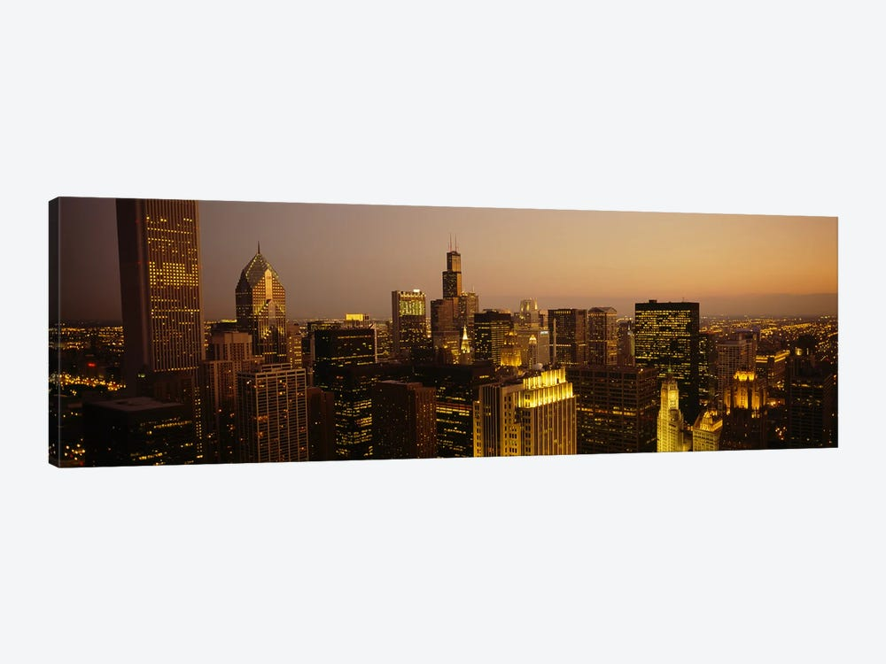 Skyscrapers in a city, Chicago, Illinois, USA #2 by Panoramic Images 1-piece Canvas Art Print