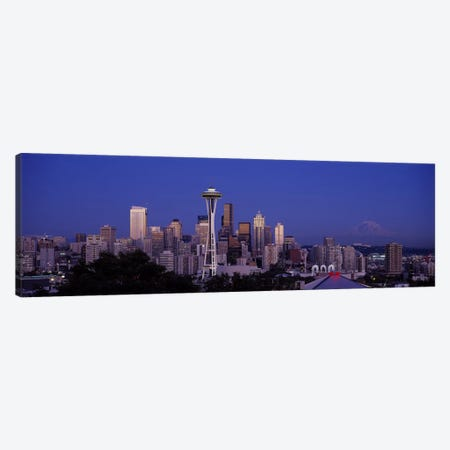 Skyscrapers in a city, Seattle, Washington State, USA #2 Canvas Print #PIM5776} by Panoramic Images Canvas Print